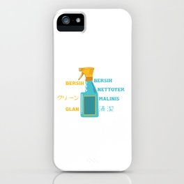 Cleaning Spray Bottle Janitor Cleaners Janitors Gift iPhone Case