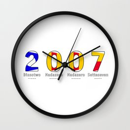 2007 - NAVY - My Year of Birth Wall Clock