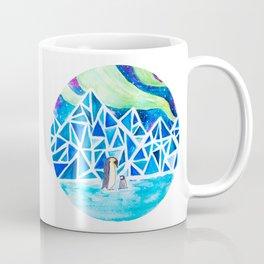 Aurora australis and icy mountains Coffee Mug