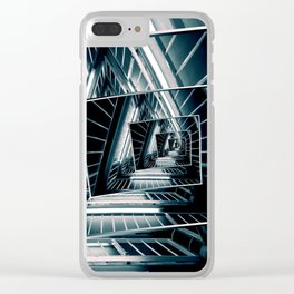 Path of Winding Rails Clear iPhone Case