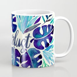 Tropical Wanderlust – Blue Coffee Mug