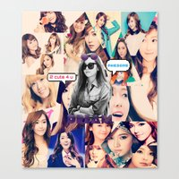 snsd Canvas Prints featuring SNSD COLLAGE - JESSICA by twinkletiger