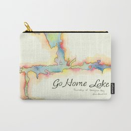 Go Home Lake - Coloured Map Carry-All Pouch