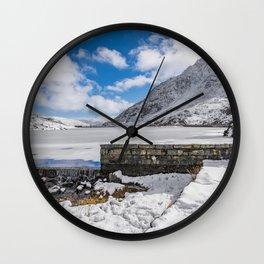 Weir At Ogwen Lake Wall Clock