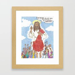 white jesus Framed Art Print