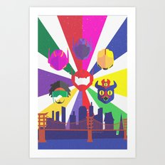 Big Hero 6 - Heroes of San Fransokyo Art Print