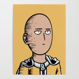 Onepunchman Poker face Poster