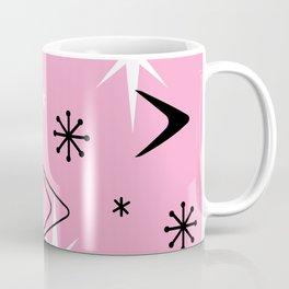 Vintage 1950s Boomerangs and Stars Pink Coffee Mug