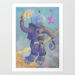 guardian of galaxy Art Print