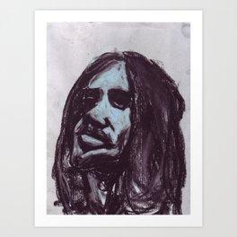 Frusciante in soft pastel Art Print