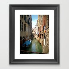 Venetian Canal Framed Art Print