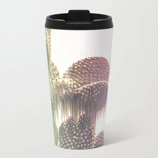 Glitch Cactus Metal Travel Mug
