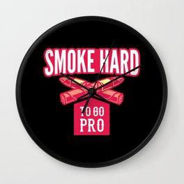 SMOKE HARD Cigar Aficionado Gift Cigar Smoker Wall Clock