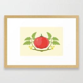 Vegetable Tags: Tomato Framed Art Print