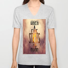 Disclosure - When a Fire Starts To Burn Unisex V-Neck
