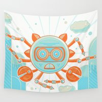 crab Wall Tapestries featuring Siva Crab by Strange Things Art