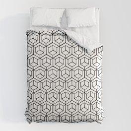 Hand Drawn Hypercube Comforters