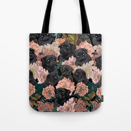 Because Black Pug Tote Bag