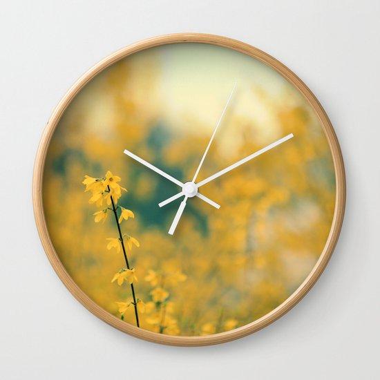 Forsythia Wall Clock