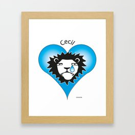 Cecil the Lion Framed Art Print