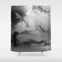 tigers Shower Curtains featuring Tigers & Lemons by Elijah Woolery