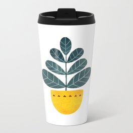 Yellow pot Metal Travel Mug