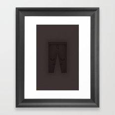 Sad Pants Framed Art Print