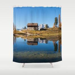 Dolomites 18 - Italy Shower Curtain