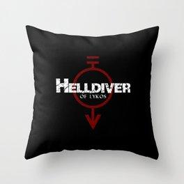 Helldiver of Lykos Throw Pillow