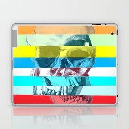 Striped Glitch Skull Laptop & iPad Skin
