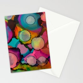 Geometric Circles Stationery Cards