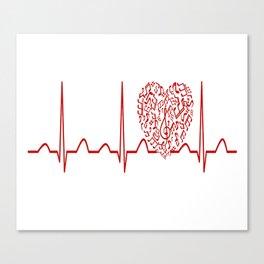 Music Teacher Heartbeat Canvas Print