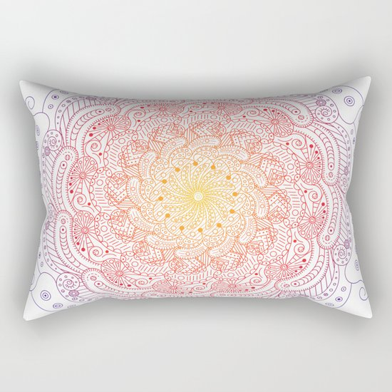Round ornament - color Rectangular Pillow