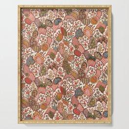 Oberkampf & Cie. Block Printed Textile Pattern, 1792 Serving Tray