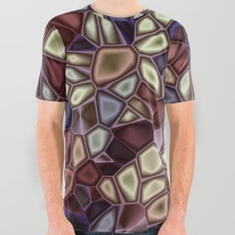 Fractal Gems 01 - Fall Vibrant All Over Graphic Tee