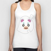 animal crossing Tank Tops featuring Animal Crossing Flurry by ZiggyPasta