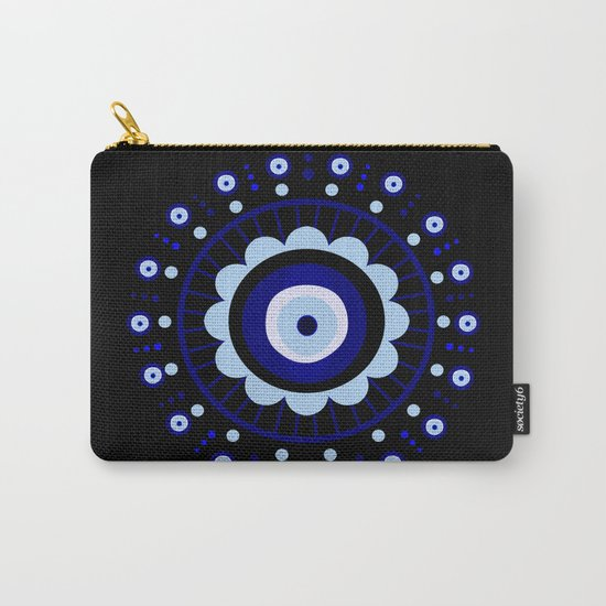 Evil Eye Flower Burst Carry-All Pouch