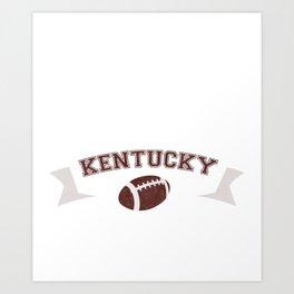 Just a Baller from Kentucky Football Player Art Print