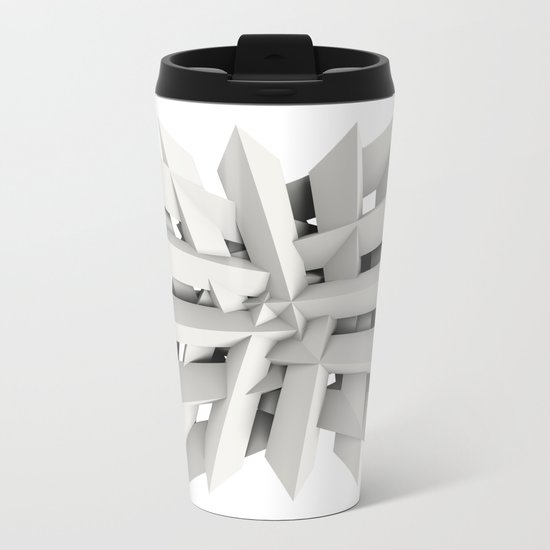 Uxitol (Struggle) large print option Metal Travel Mug