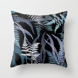 Ferns in the Still of the Night Throw Pillow