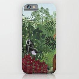 Vintage jungle art iPhone Case