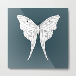 Luna Moth (with background) Metal Print