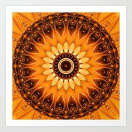 Mandala egypt sun no. 2 Art Print