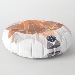 Fox Forest Wild Life Animal Design Polygonal T--shirt Design Symmetrical Triangular Mathematics Floor Pillow