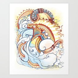 Where do clouds come from? Art Print