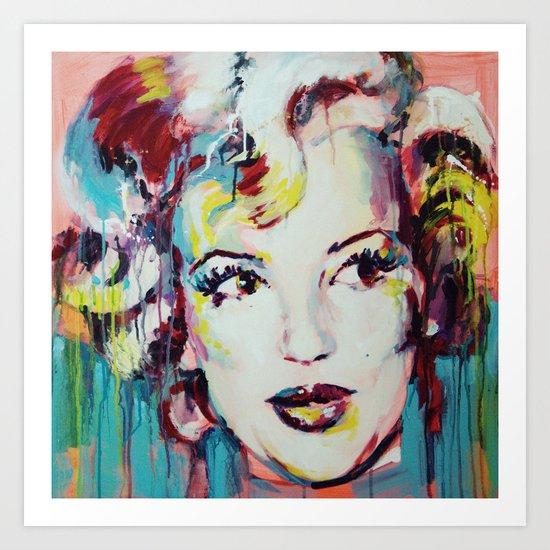 Merylin Monroe cinema and pop culture icon - portrait Art Print