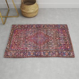 Kashan Central Persian Silk Rug Print Rug