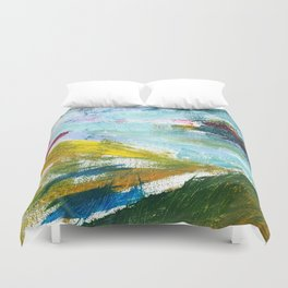 Flying Up - Abstract Painting Duvet Cover