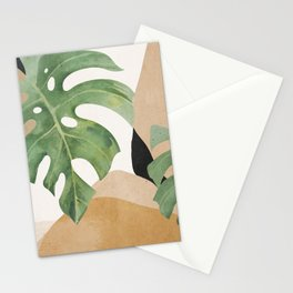 Abstract Art Tropical Leaves 3 Stationery Cards