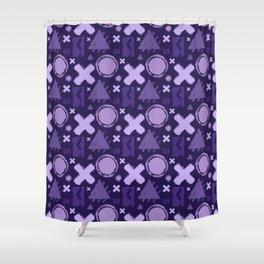 Ultra Violet Geometrix Shower Curtain